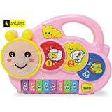 Zest 4 Toyz Piano Keyboard Musical Toys with Flashing Lights, Animal Sounds & Songs - Battery Operated Kids Toys (Cute Animals)
