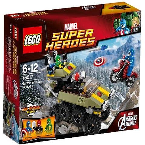 LEGO Super Heroes - Marvel, Captain America vs. Hydra, juego de construcción (76017)