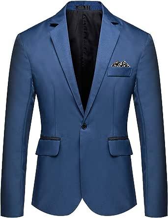 YOUTHUP Mens Slim Suit Jacket Lightweight Blazer