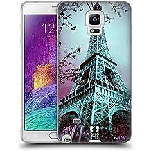 Head Case Designs Tour Eiffel Paris France Meilleurs Endroits - Collection 2 Étui Coque en Gel molle pour Samsung Galaxy Note 4