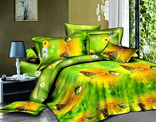 Dexim (90 GSM)3D Printed Poly Satin double Bed Sheet with Two Pillow Cover Set  available at amazon for Rs.799