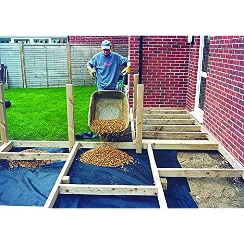 2m x 25m Weedban 70Cubierta de suelo para control de malas hierbas (membrana paisaje tela mantillo
