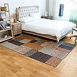 WXIN /Stickvorlage/Jacquard Teppich Wohnzimmer Couchtisch Zu Füßen Schlafzimmer Bett Teppich/120X180Cm/Denim Rest Blau