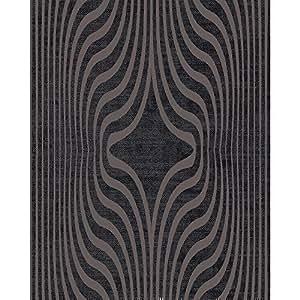 grandeco tapete mit zebramuster steifen designer glitzer texturiert vinyl tapete schwarz bob. Black Bedroom Furniture Sets. Home Design Ideas