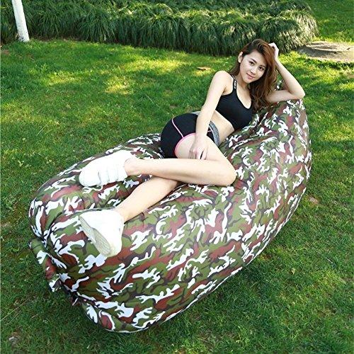 ONETWO Modernen persönlichkeit Luft sofa couch,Outdoor-luftabwehr undichten tasche Aufblasbare liege Für park reisen -A (Moderne Doppel-wechsel)