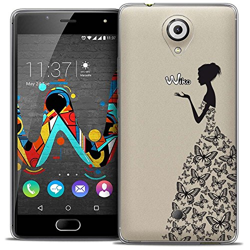Wiko U FEEL Hülle, ocketcase® TPU Schutzhülle Tasche Case Cover Kratzfest Weich Silikon Schutz Shell Flexibel Gel Bumper für Wiko U FEEL (Party Queen) + Gratis Universal Eingabestift