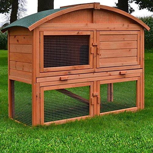 Stall Villa Runddach Kaninchenstall Hasenstall Kaninchenkäfig Hasenkäfig - 2