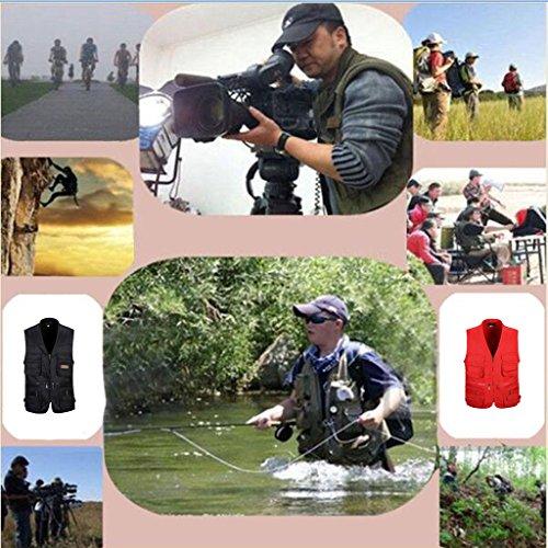 Homme Gilet Pêche avec Multi-Poche zippée Pour...