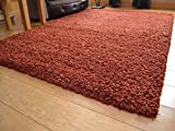 Soft Touch Shaggy Rust Thick Luxurious Soft Dense Pile Rug