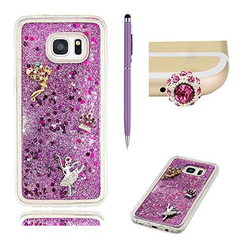 samsung-s7-edge-case-glitter-cover-skyxd-novelty-creative-design-flowing-liquid-floating-purple-ange