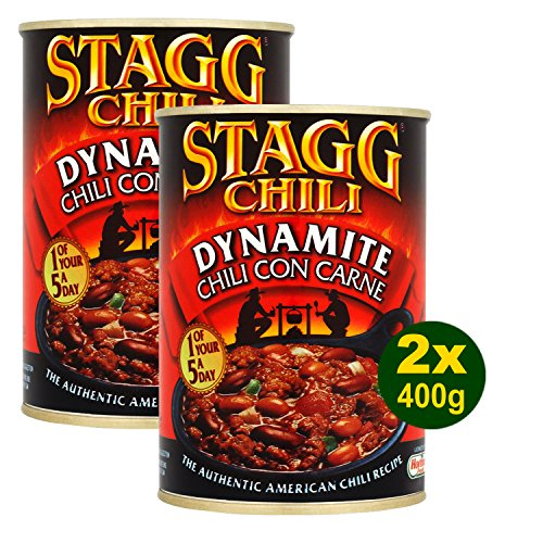 Stagg Chili Con Carne Beef Hot Dynamite (400g) – Packung mit 2