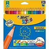 Bic Kids - Evolution - Crayons de Couleur - Modèle Aléatoire - Multicolore  - Etui de 24