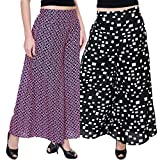 TASHI Printed Poly Crepe Stylish Plazzo For Women Pack Of 2