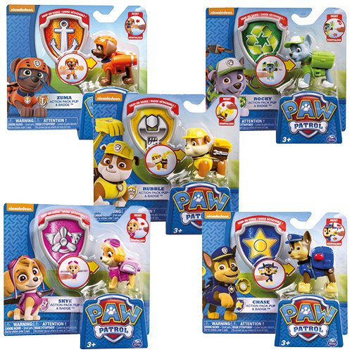 AK Sport 6022626 Paw Patrol Action Pack Pup 6AS (farblich sortiert)