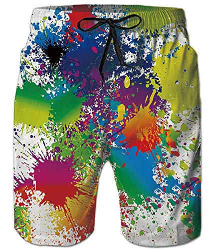 Herren Sommer Badeshorts Swimming Trunks Marineblau Galaxy Space Universe Strandshorts Mens mit Taschen Hawaiian Beach Shorts Swim Board Shorts Coole Long Board Verstellbare Hawaiian Surf Shorts (Hawaiian Surf-shorts)