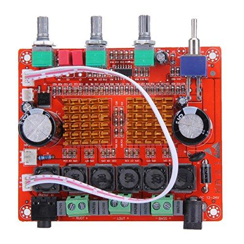 Sharplace 2.1 Verstärker Board   Mini Amplifier Module   DIY AMP Board   2 x 50W + 100W DC24v HF Subwoofer -