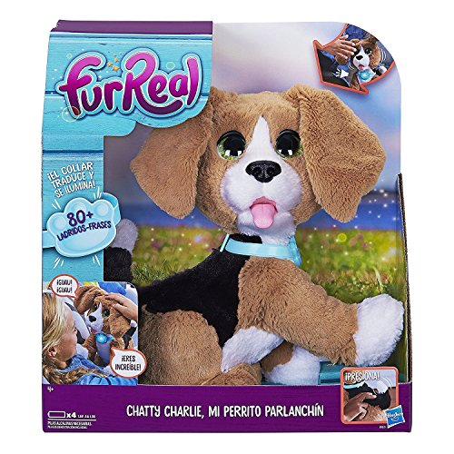 Fur Real Friends - Peluche Charlie, mi perro parlanchin (Hasbro B9070105)