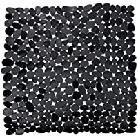 Hochwertige Marken Duscheinlage - Duscheinlage- Duschmatte - Antirutschmatte Kieseldekor-Stoneotik-Farbe:schwarz-Maße:ca.:52 x 52 Wannenmatte-Wenko ®