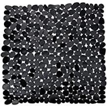 hochwertige marken duscheinlage duscheinlage duschmatte antirutschmatte kieseldekor stoneotik farbeschwarz - Antirutschmatte Dusche Rund
