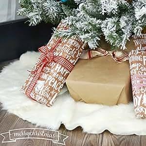 weihnachtsbaum rock wei faux pelz baum rock. Black Bedroom Furniture Sets. Home Design Ideas