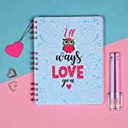 Doodle Hopeless Romantic Notebook Diary (8.5 X 6.5 inches 80 GSM, 160 Pages) Valentine's Day Gift, Gift for Him, Gift for Bo