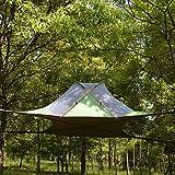CHYYZP Zelt 220 * 200Cm Verschobenes Baum-Zelt Ultraleichtes Hängendes Baum-Haus Camping-Hängematte Wasserdichtes 4 Jahreszeit-Zelt Für Das Wandern des Backpacking-Vierecks Grün