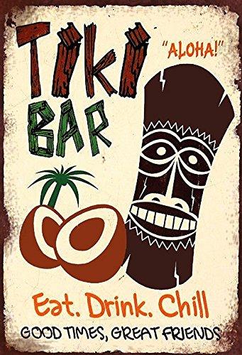Tiki Bar barschild hawaii Aloha schild aus blech, metal sign, tin (Tiki Bar Hawaii)