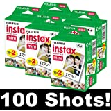 Fujifilm Instax Mini Film Set of 5 x 20 Films for a Total of 100 Photos