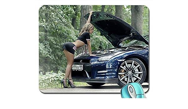 Femme Modèles Talons Blondes Miniskirts Cars Hauts À Chaussures OlkZiwXTPu