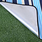 SONGMICS XXL 200 x 200 cm Picnic Blanket Waterproof Backing GCM70L