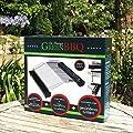 GreenBBQ Grill-Aufsatz - patentierter Grillrost - gesünder, fast rauchfrei & kein Fettbrand - Bratrost Fläche 285x265 mm - 95% weniger PAK, HAA, Rauch & Fettverbrennung - für jeden Grill mit Grillfläche >= ø44cm / 31x31cm geeignet von GreenBBQ auf Outdoor