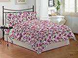 Bombay Dyeing Cardinal 100% Cotton Double Bedsheet with 2 Pillow Covers-Meganta