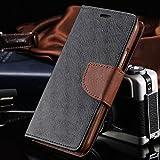 Xiaomi Mi Redmi 3s Prime Flip Cover Case : Thinkzy Premium Quality Artificial Leather Flip Cover Case – Black, Brown