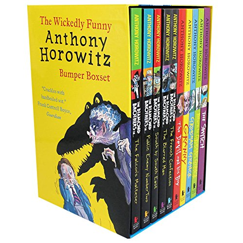 Anthony Horowitz Wickedly Funny 10 Children Books Collection Set (The Switch, Return to Groosham Grange, Granny, The Devil and his Boy, The French Confection, The Blurred Man, South by South east, Public enemy Number two, The Falcon's Malters) by Anthony Horowitz (2015-08-02)