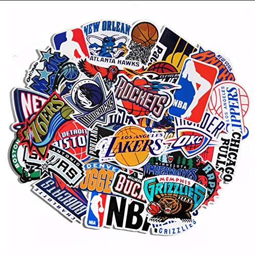 Club De Baloncesto Logotipo del Equipo Pegatina Maleta Equipaje Tableta Portátil Vuela Mosca Pegatinas Impermeables 43