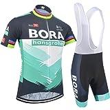 Zomerset voor heren, fietskleding, fietskleding, combo en gel gevoerde korte broek, MTB-shirt voor fietser