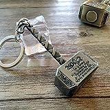 PriMI Porte-clés avec marteau de Thor coloris étain