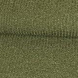 Strickstoff meliert olivgrün einfarbig Uni Strickjersey