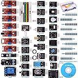 For arduino UNO R3 Mega2560 Nano Sensor Starter Kit Kuman 37 in 1 Arduino Compatible Learning Module for Raspberry Pi RPi 3 2 Model B B+ A A+ K5