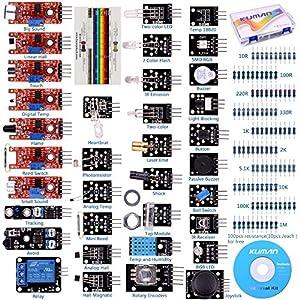 61833b3qMYL. SS300  - Arduino Kit, Arduino Uno Raspberry Pi 3 Mega 2560 R3, 37 en 1 Módulo Sensor Proyectos para Arduino Starter Kit K5 (Updated Version)