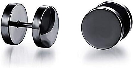 Miami Fashion Jewellery Stainless Steel Studs Earrings for Men (Black, BALI-113)
