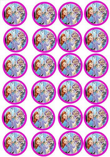 24 Muffin & Cupcake Aufleger Fondant Sofia die Erste C4