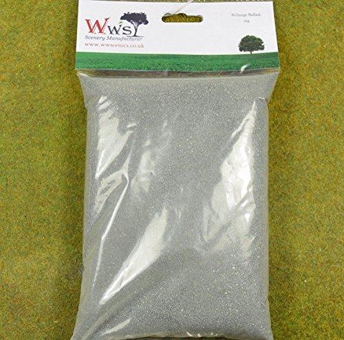 WWS 1 KILO DARK GREY FINE GRADE RAILWAY BALLAST FOR, used for sale  Delivered anywhere in UK