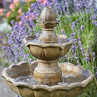 Smart Garden Solar Kingsbury 3 Tier Garden Water Feature Fountain Bird Bath from Smart Garden