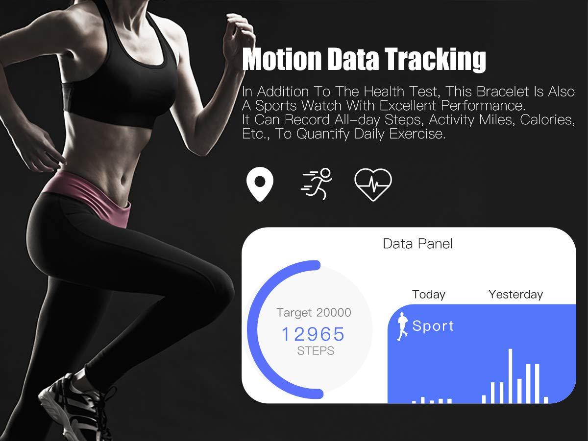 Adsvtech Smartwatch, Impermeable Reloj Inteligente Mujer Hombre, Pulsera Actividad Inteligente Reloj Deportivo Reloj… 4