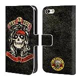 Officiel Guns N' Roses McKagan Vintage Étui Coque De Livre en Cuir pour iPhone 5 iPhone 5s iPhone Se