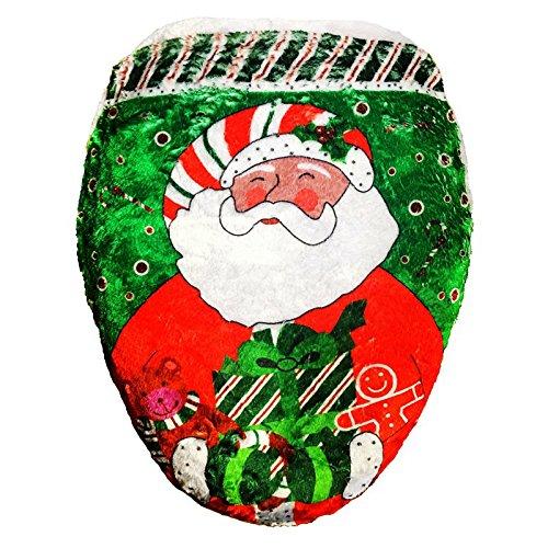 hangnuo Happy Babbo Natale Toilet Seat Cover Decorazione Natalizia A