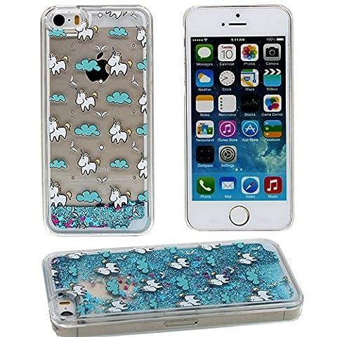 Apple iPhone 5 5S SE Coque Protection Case, Eau Liquide
