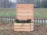 Pflanzkübel Holz mit Sichtschutz, Douglasie Natur