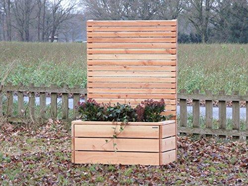 binnen-markt Pflanzkasten Holz L mit Sichtschutz, Douglasie Natur